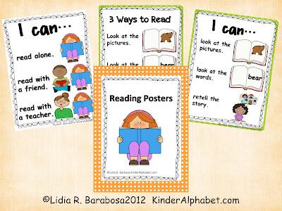 Reading posters for kindergarten jpg