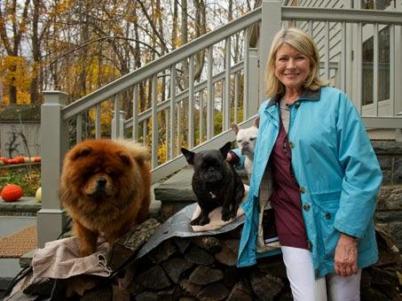 Martha Stewart and Her Pets, Ghenghis Khan chow chow, Martha Stewart, Martha Stewart pets