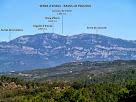 Vista de la Serra d'Ensija i dels Rasos de Peguera des del Bosc de Coromines