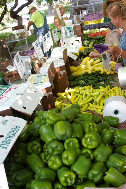 Fresh fruits and vegetables. Michigan Farmers Market at the Capitol 2013. Tammy Sue Allen Photography.