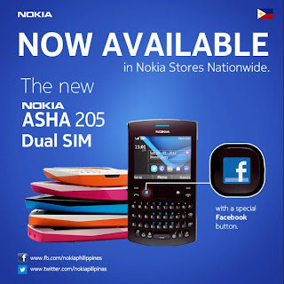 Nokia Asha 205 Dual SIM phone is now available for Php 2,680.00