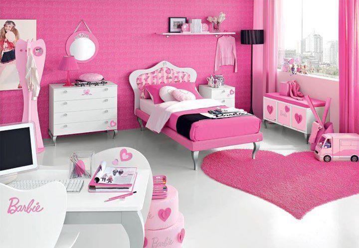 Pink Girls Bedroom Decorating Ideas