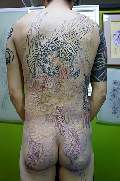 龍 鳳凰 刺青 タトゥー 和彫り TATTOO