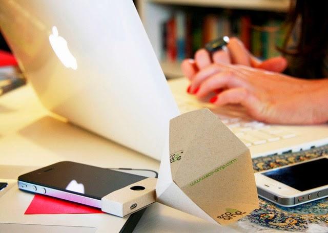 Amplificateur en Papier Recyclé pour Iphone, Ipod et Ipad