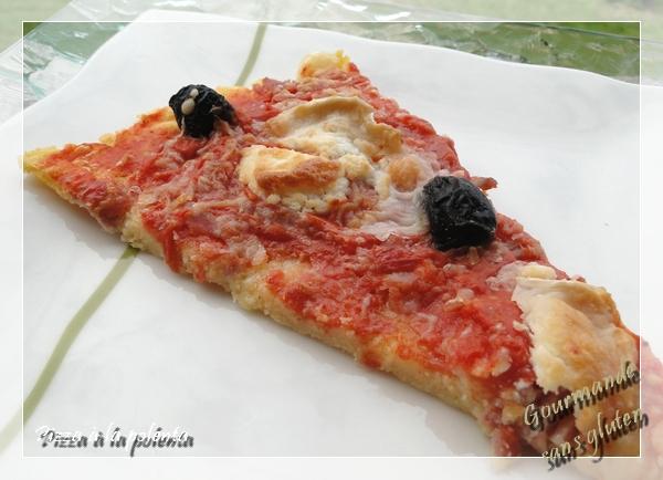 Pizza à la polenta sans gluten