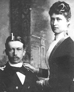 Prince Heinrich de Prusse et la princesse Irene de Hesse et du Rhin