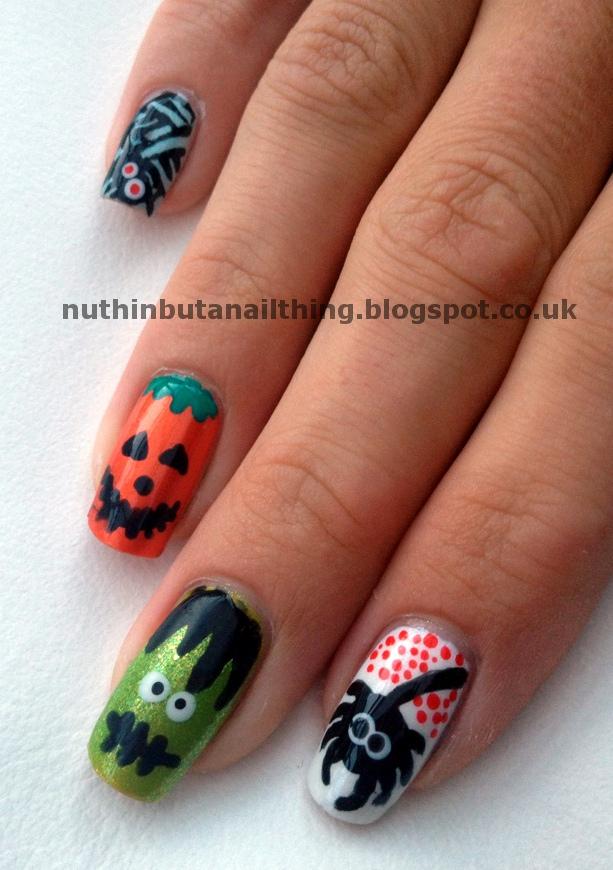 nuthin\' but a nail thing: Halloween Nails - Aroooooooooooo!