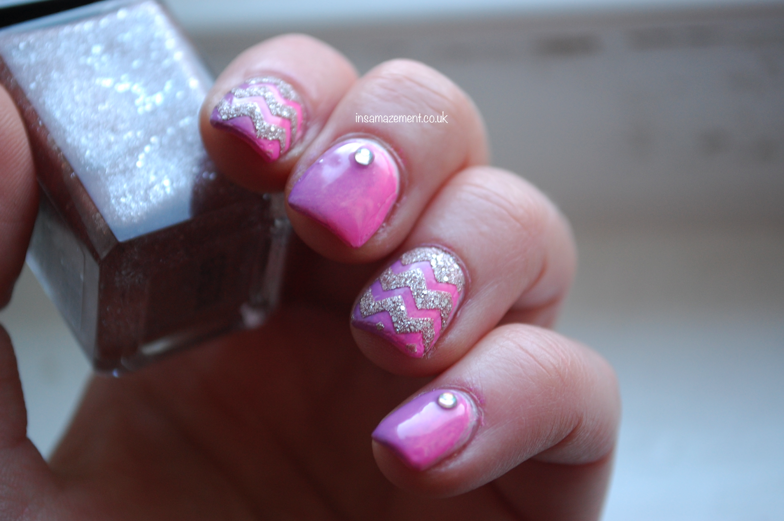 Sparkly Pink Nail Art