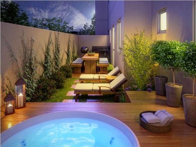 Aventuras no pequeno ap apartamento com garden - Decorar duplex pequeno ...
