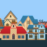 vintage house vector set