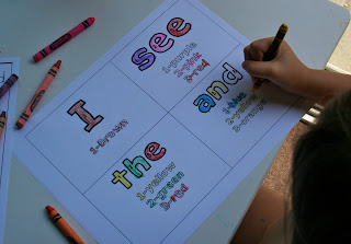 Literacy Sight Word Flash Cards Preschool Printables