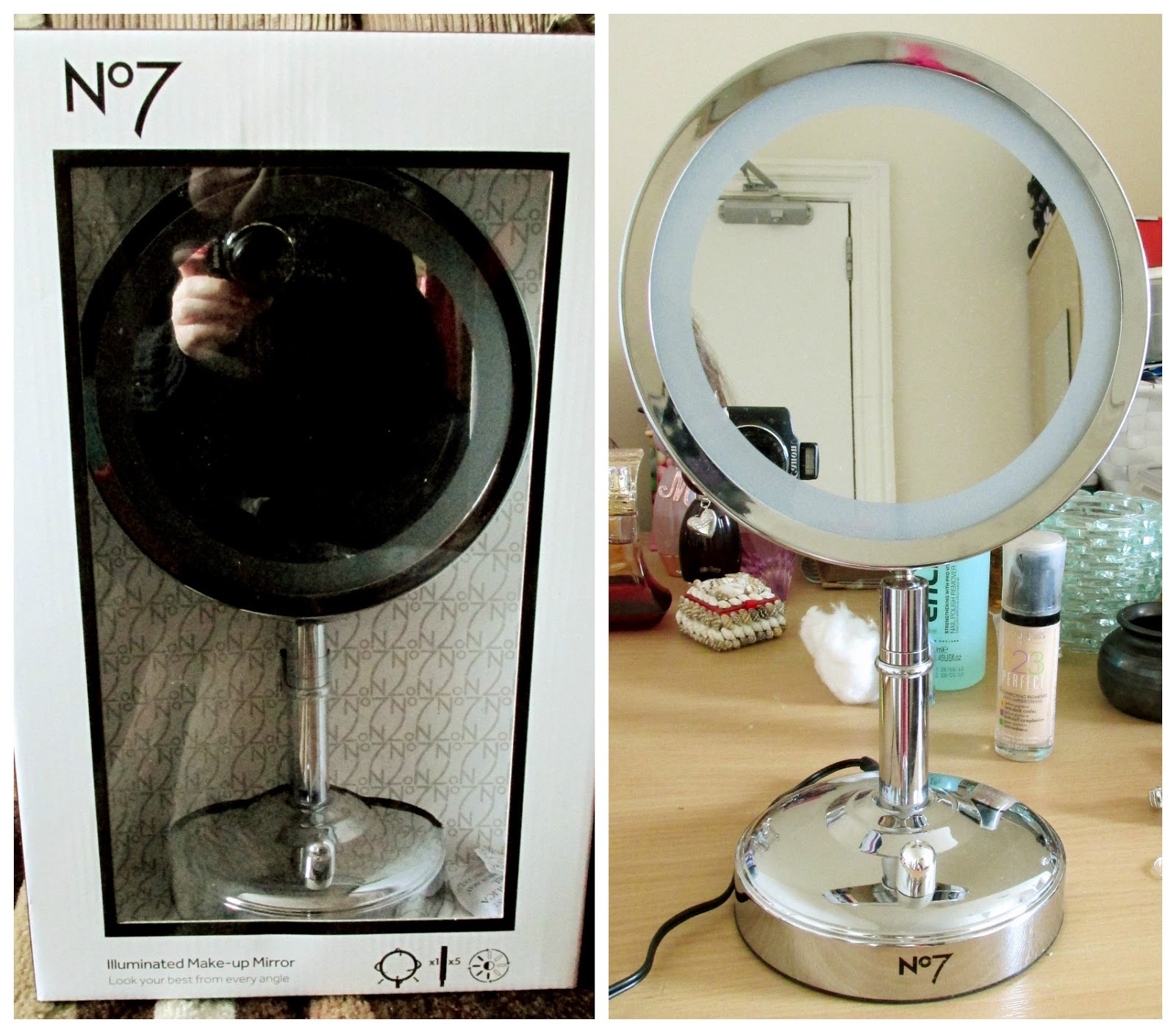 abigail 39 s world my 100th post no 7 2014 illuminated make up mirror review. Black Bedroom Furniture Sets. Home Design Ideas