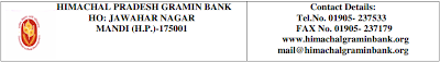 Himachal Gramin Bank Recruitment 2013-2014 Apply Online- himachalgraminbank.org