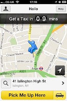 Hailo app London black cab services