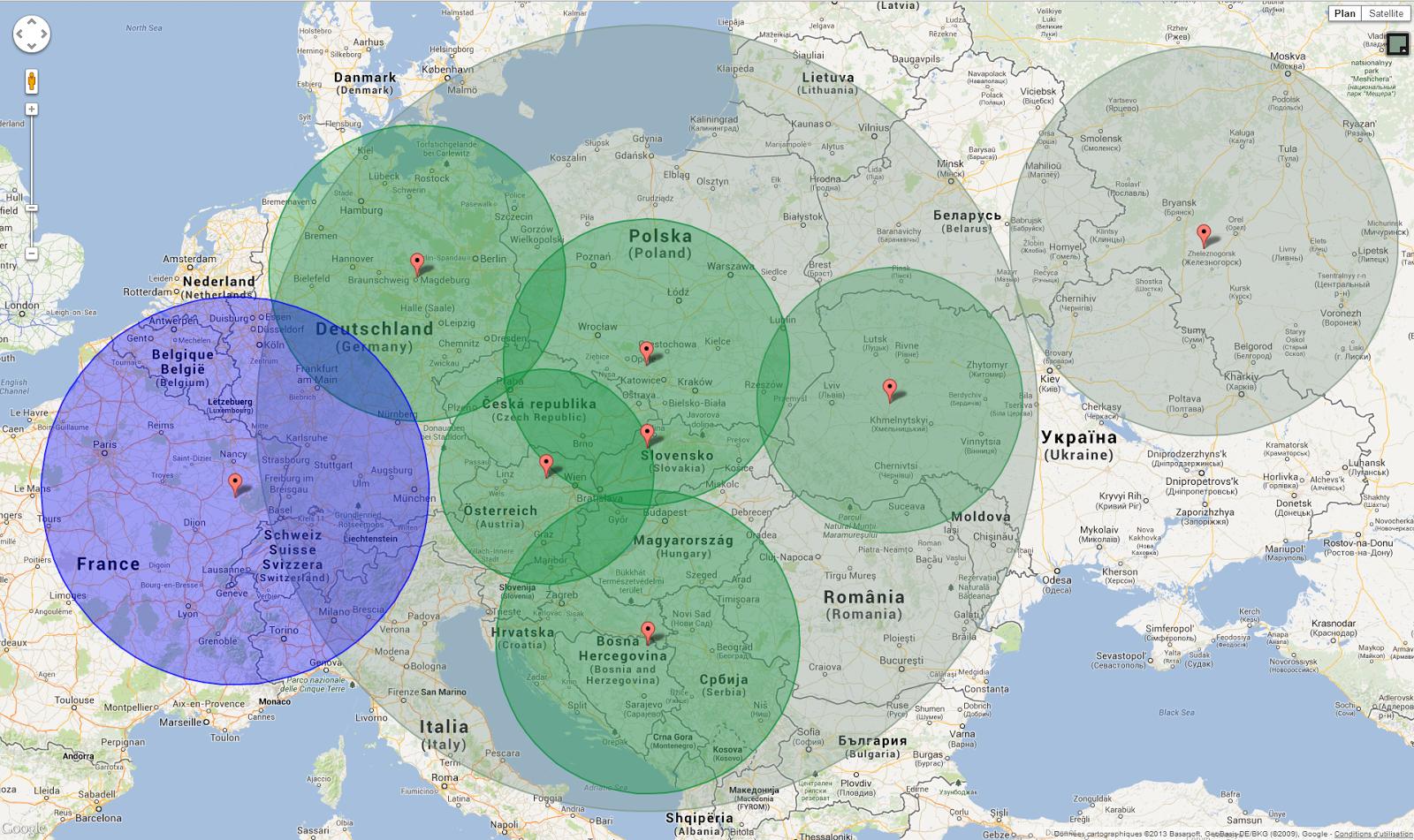 Tutos Google Maps: [Google maps] Créer des cercles de couleur sur on