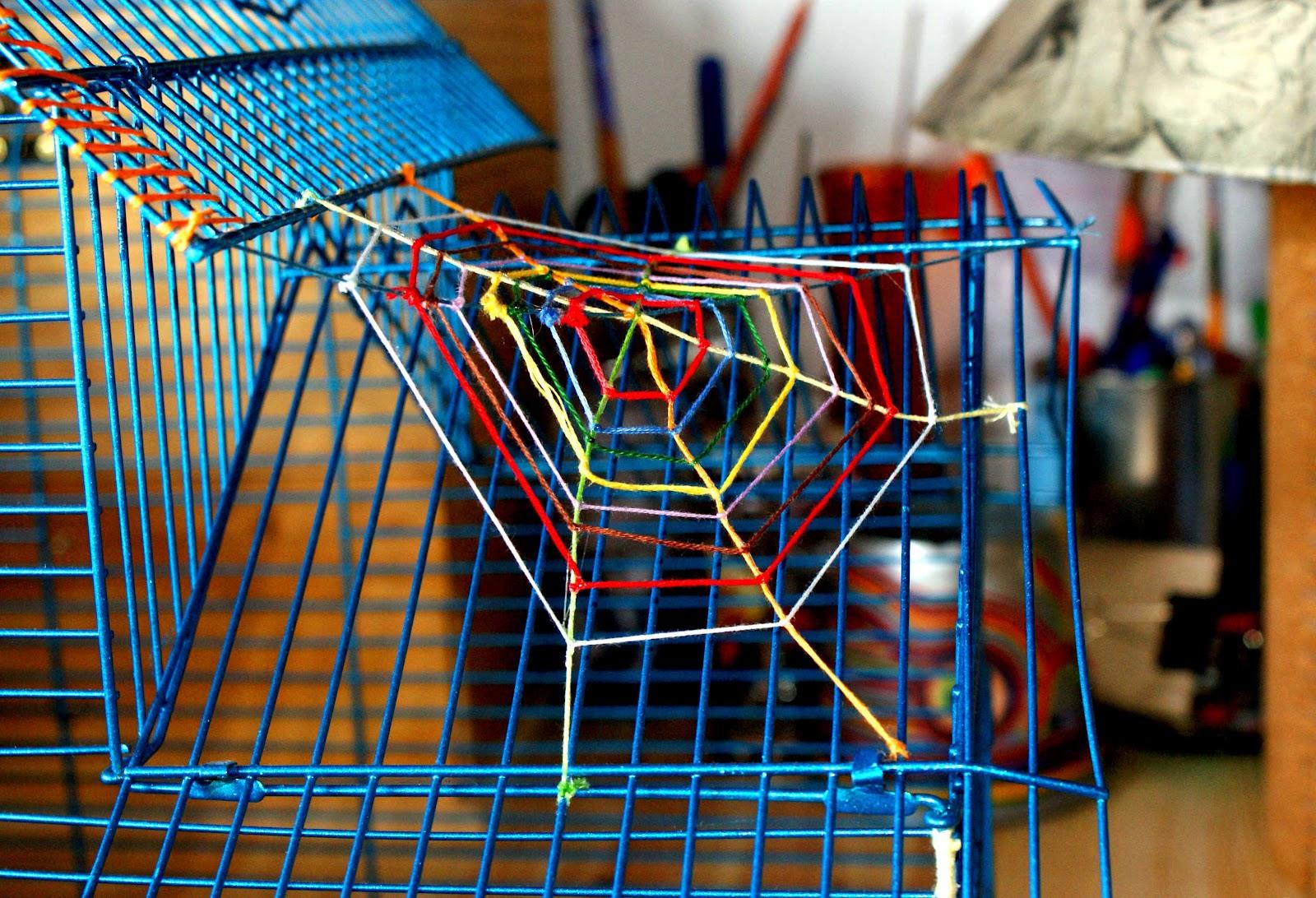 Inspiraci n hecha a mano c mo hacer una telara a de hilos - Como hacer tela de arana ...