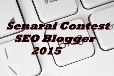 Senarai Contest SEO Blogger 2015