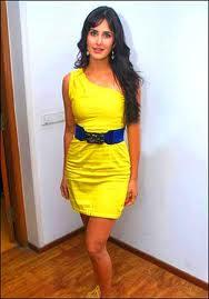 KAITRINA KAIF HOT DRESS: Katrina Kaif Yellow Dress