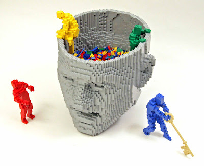 Legos climbing out of your head