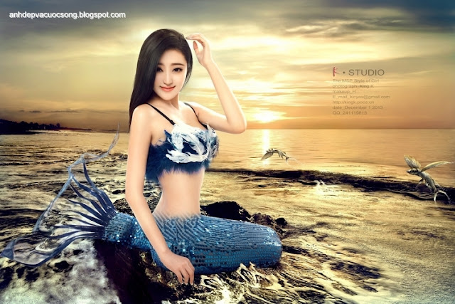 Ảnh đẹp em là nàng tiên cá