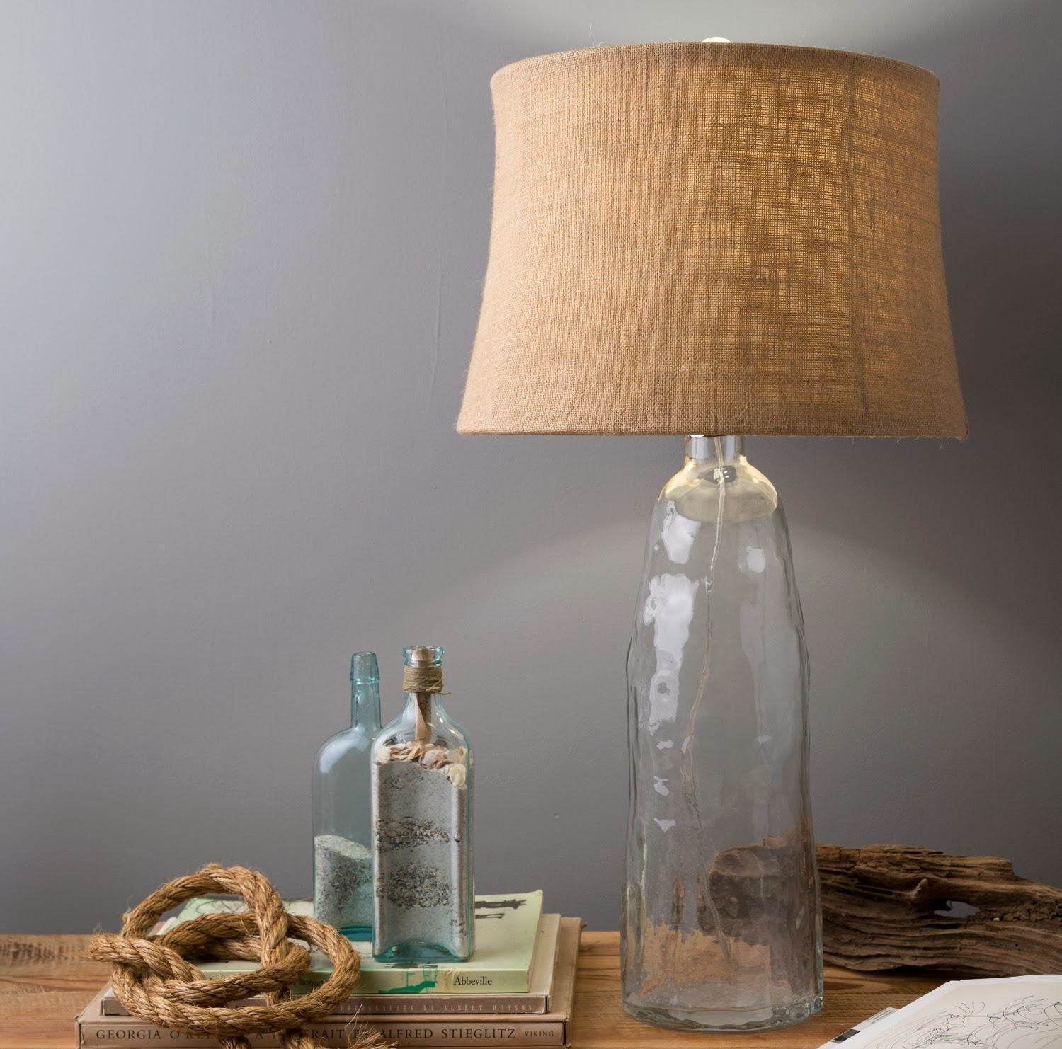 Recycled Bubble Glass Lamp