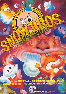 Snow Bros. arcade game portable flyer