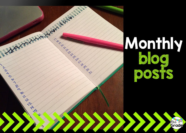 Looking at all of your blog posts for the month is a great way to see what your month will look like and what you need to work on