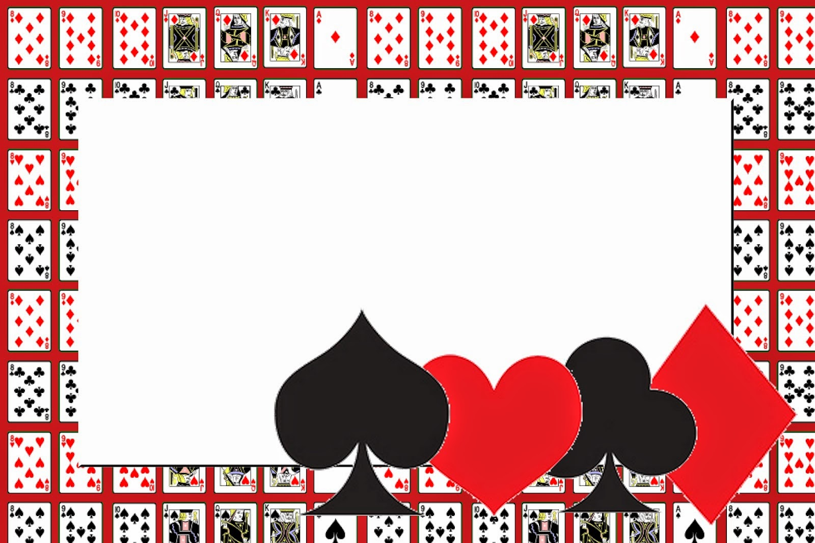Sassy image pertaining to free printable casino party invitations