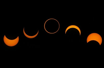 cómo es un eclipse anular de sol