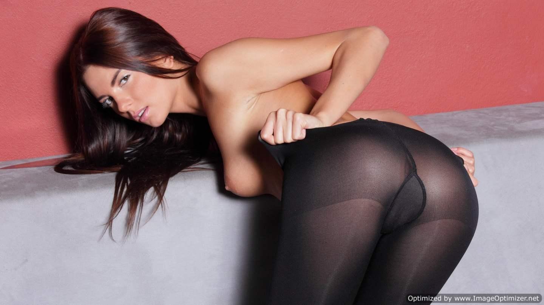 Черные женские колготки порно 3 фотография