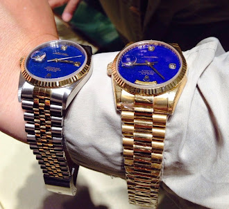 Two Rolex with Lapis Azuli Dial
