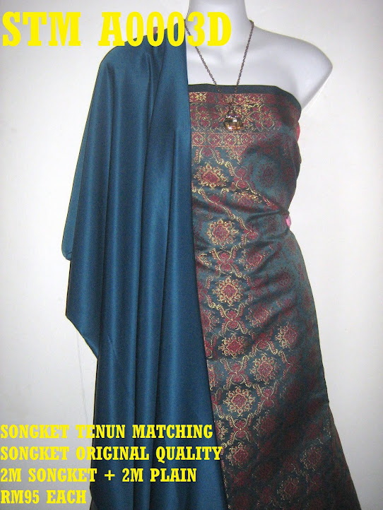 STM A0003D: SONGKET TENUN MATCHING, HIGH QUALITY, 2M SONGKET + 2M PLAIN