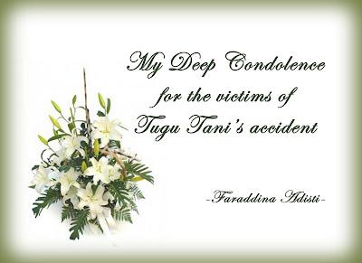 Turut berduka cita sedalam-dalamnya untuk para korban yang meninggal ...