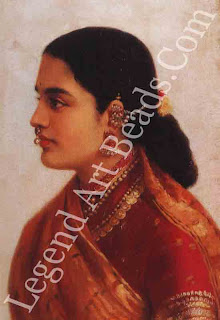 A LADY By Raja Ravi Varma Oil on canvas 48.5 X 3245 cm Courtesy Sotheby's A traditionally dressed and ornamented lady from Kerala.