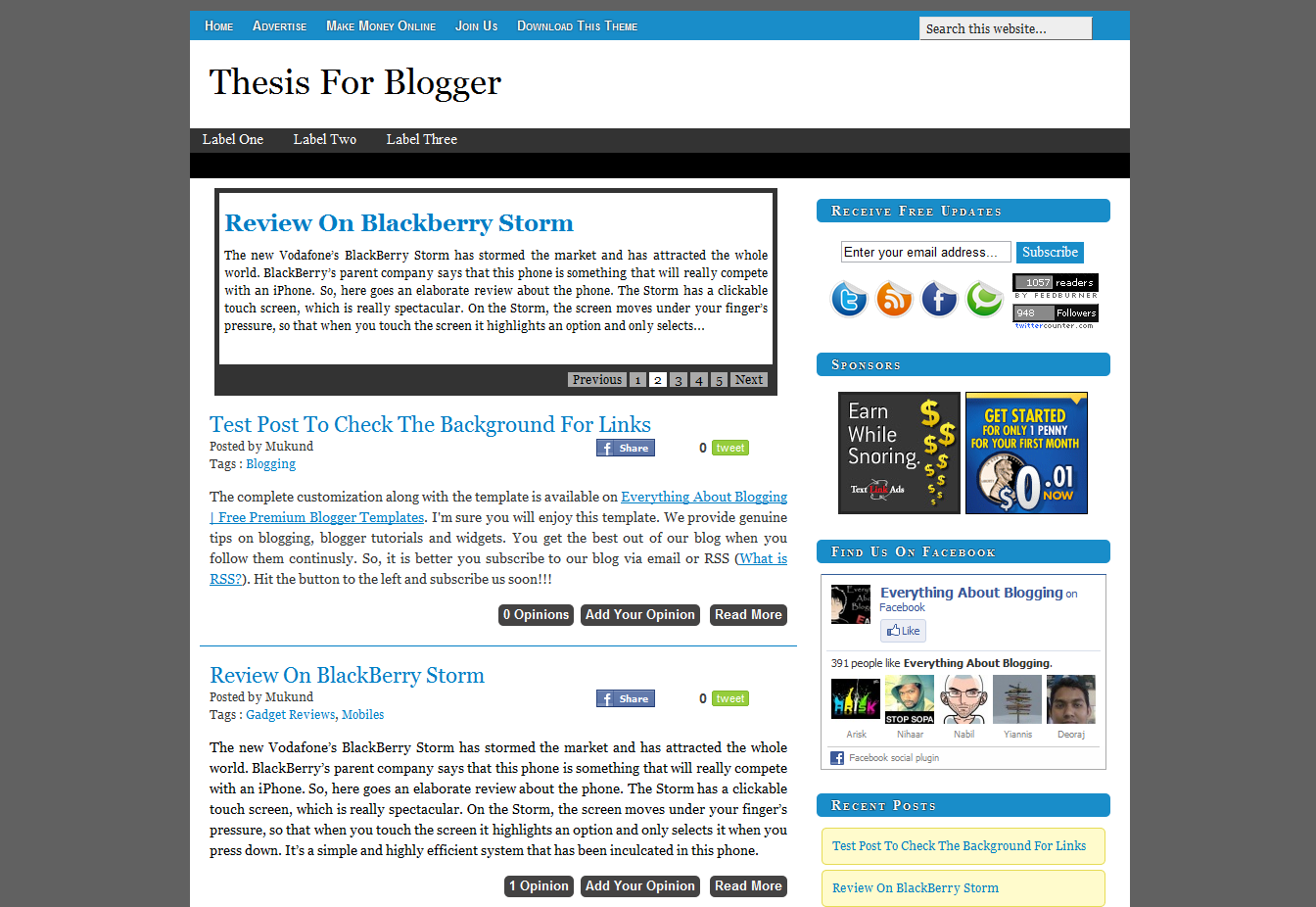 Shout me aloud free premium blogger template helper blogger for Free html blog templates