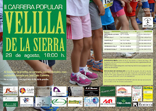 INSCRIPCIÓN II CARRERA POPULAR VELILLA DE LA SIERRA 2015