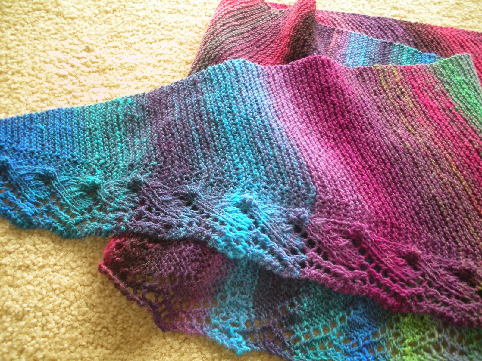 Free Knitting Patterns For Leftover Sock Yarn : Yarn In, Yarn Out: Free Pattern: Pebble Beach Baktus