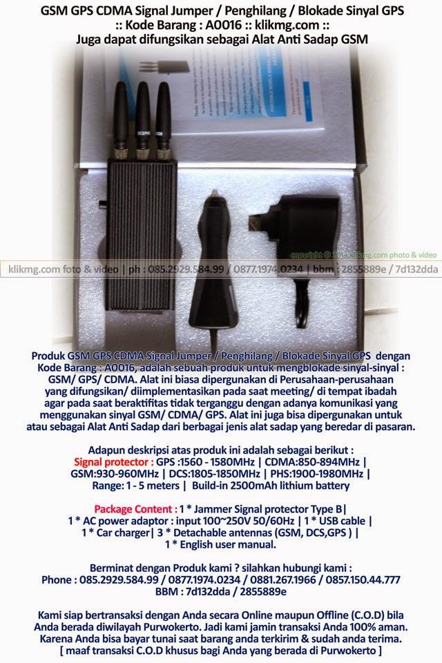 GSM GPS CDMA Signal Jumper / Penghilang / Blokade Sinyal GPS - Kode Barang : A0016 | Juga dapat difungsikan sebagai Alat Anti Sadap GSM