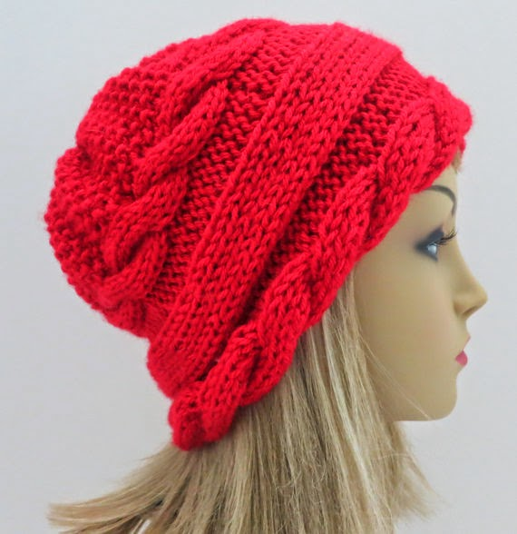 Woman on the Water, Etsy, hat pattern, cap, toque, cabled hat pattern, knit hat pattern