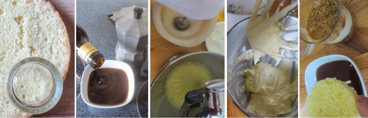 Zubereitung Tiramisù im Glas