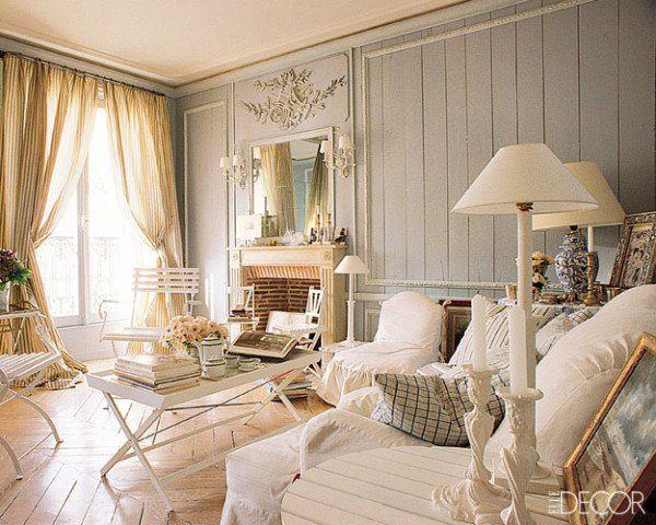 Vintage living room style for Living estilo romantico