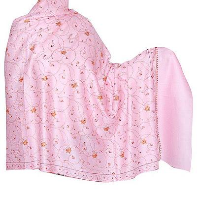 Cashmere Pink Wool Shawl