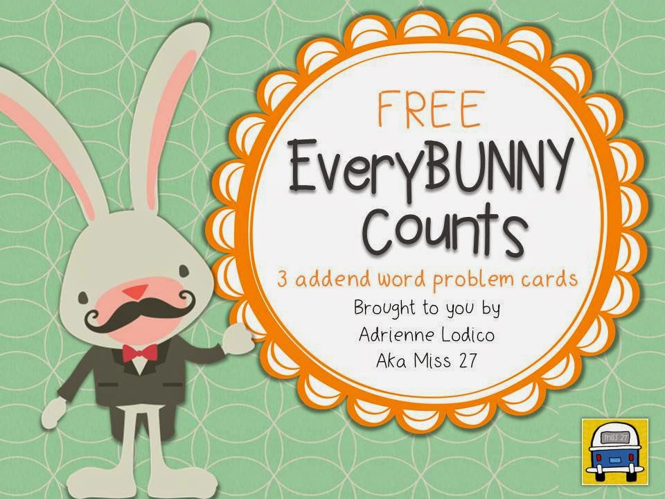 http://www.teacherspayteachers.com/Product/EveryBUNNY-Counts-FREE-3-addend-word-problem-cards-1212395