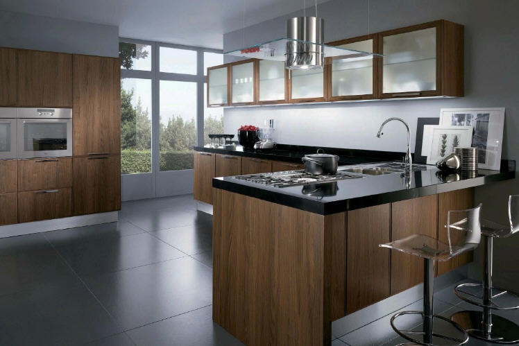 Simply beautiful kitchens the blog walnut modular for Scavolini cabinets