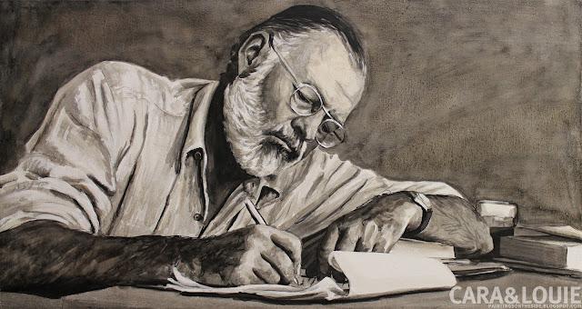Ernest Hemingway Painting