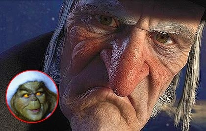 Grinch and Grinchier: Jim Carrey starred as The Grinch in 2000 and as Scrooge in 2009.