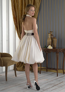 Short Halter Wedding Dress
