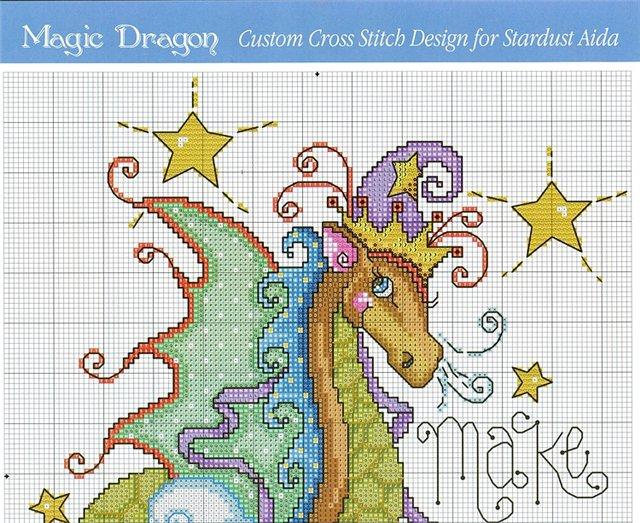 Год дракона схема вышивки крестом 64