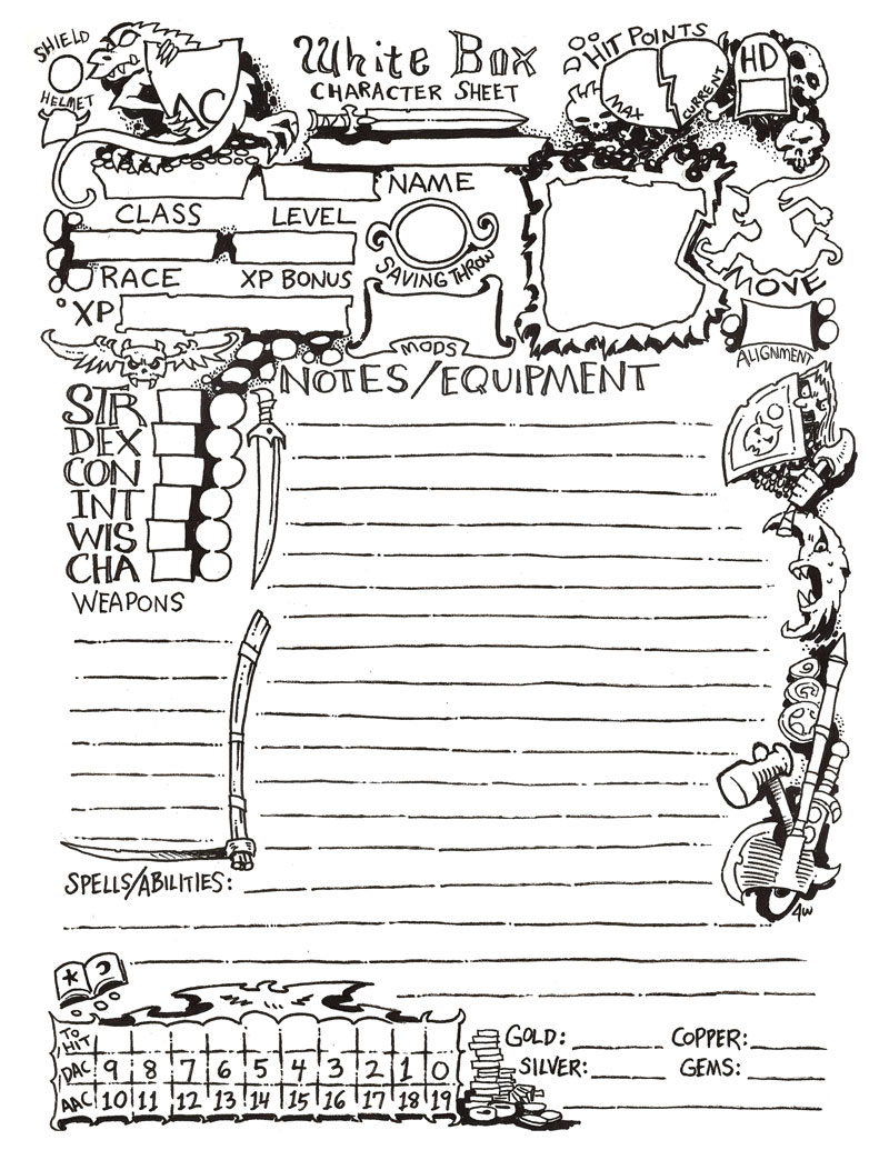 Character Sheet 2 by James V. West