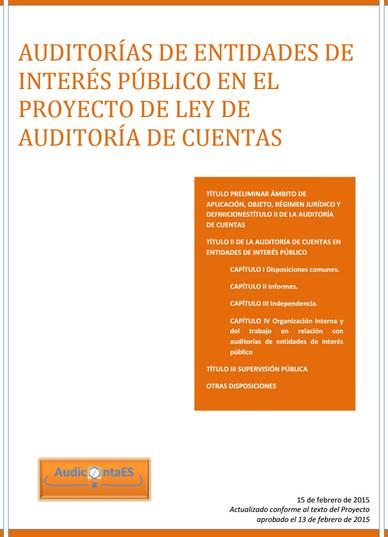 EIP Entidades de interés público PLAC Proyecto de Ley de Auditoría de Cuentas